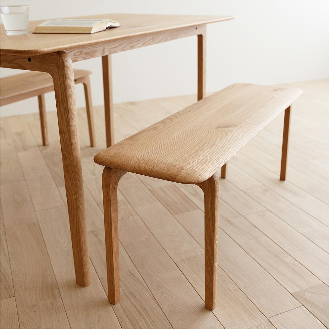 LISCIO Dining Table 126*70, Bench 105 / oak